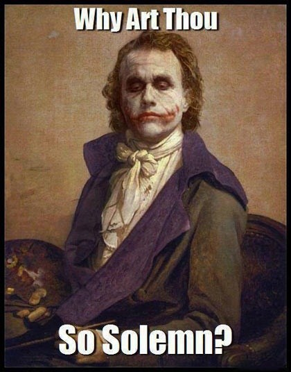 joker batman heath ledger WHY SO SERIOUS - 7056290048