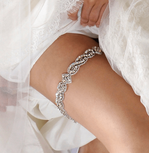 ouch metal Garter chafing rhinestones Bling - 7056607488