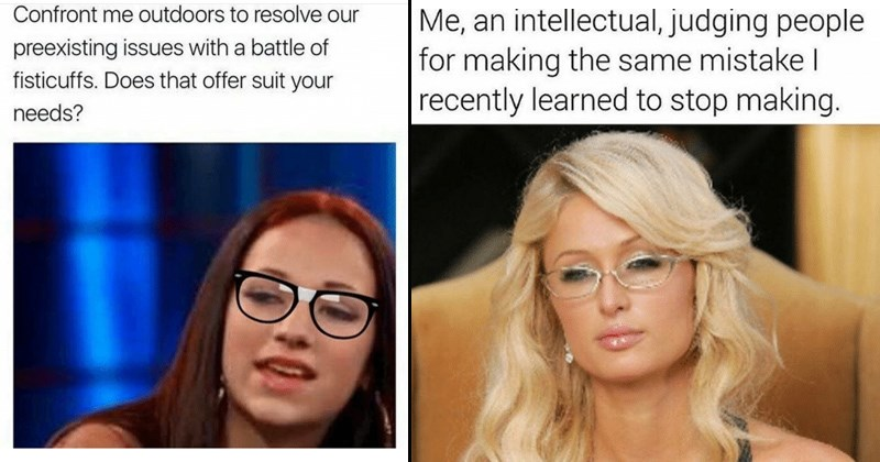 memes of smug online users and people who consider themselves very smart