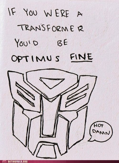 transformers,fine,pick-up lines
