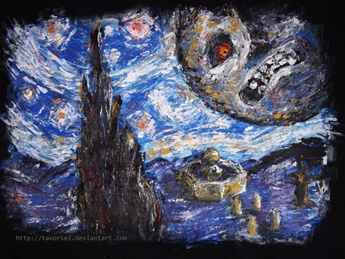 starry night art majoras mask zelda - 7058070784