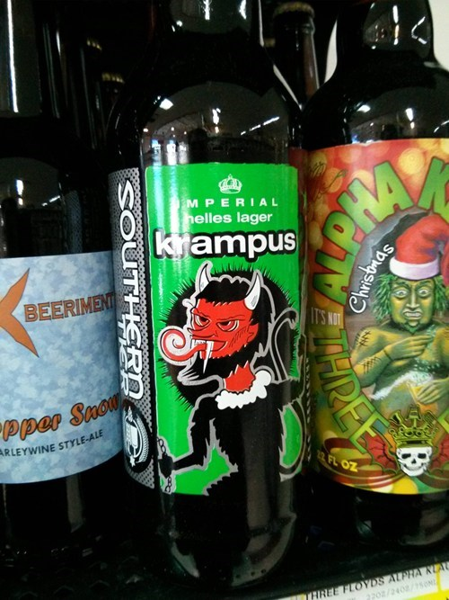 christmas beer krampus demon