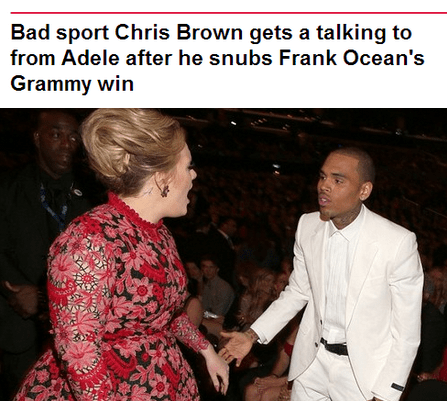 Music,adele,Grammys,chris brown,funny