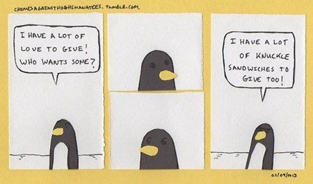 penguins,cute,comic