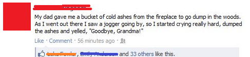 grandmas,facebook,ashes