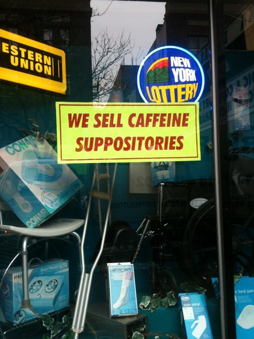 sign coffee suppository caffine - 7058443008