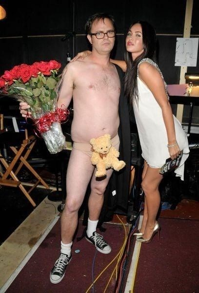 the office teddy bears roses megan fox rainn wilson
