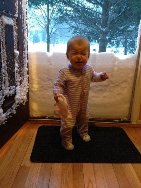 Babies,snow day,kids,snow,parenting