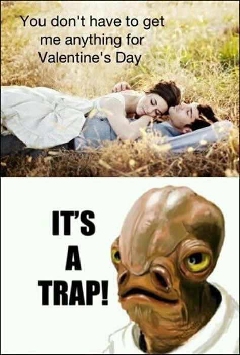 its a trap romance relationships Valentines day