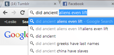 Aliens,do you even lift,autofill,google
