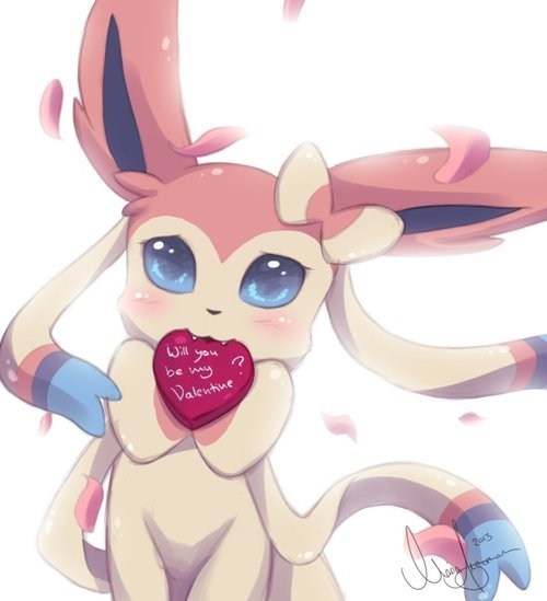 art,ninfia,eeveelution,Valentines day