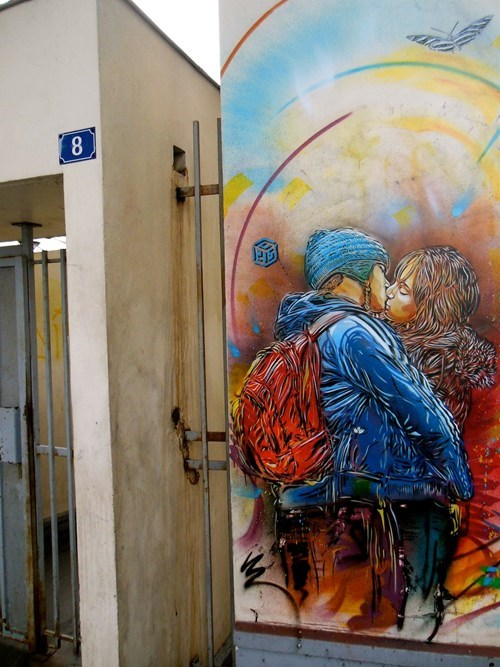Street Art romantic graffiti hacked irl - 7058876416