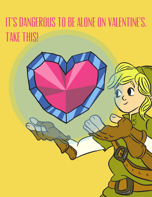 meme,it's dangerous to be alone,zelda,Valentines day