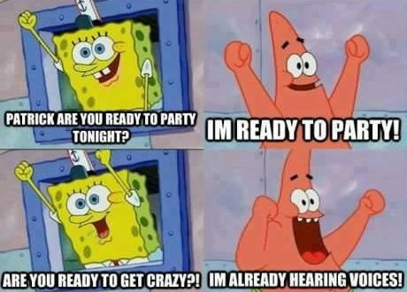 patrick star SpongeBob SquarePants partying
