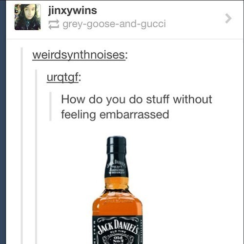 alcohol jack daniels embarrassed