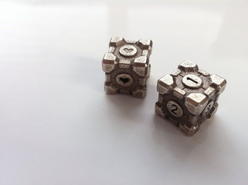 3d printed dice Portal companion cubes - 7059027200