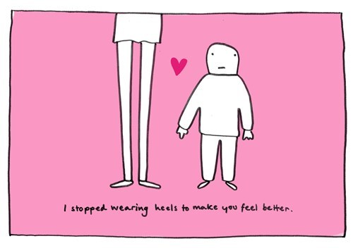 height differences,valentine's day cards,high heels