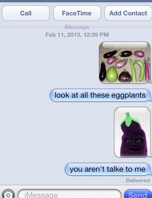 iPhones answer me eggplant - 7059152640