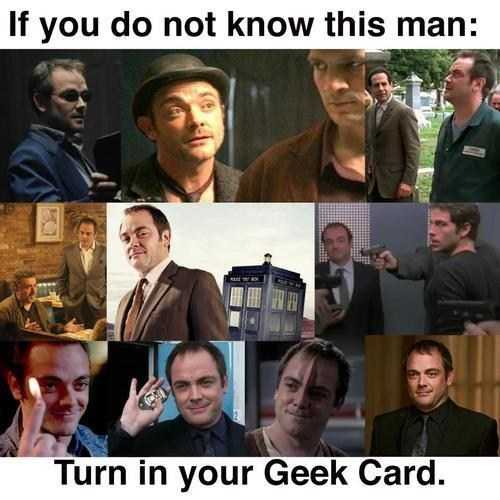 actor mark sheppard warehouse 13 geek card everywhere doctor who Firefly Supernatural - 7059155200