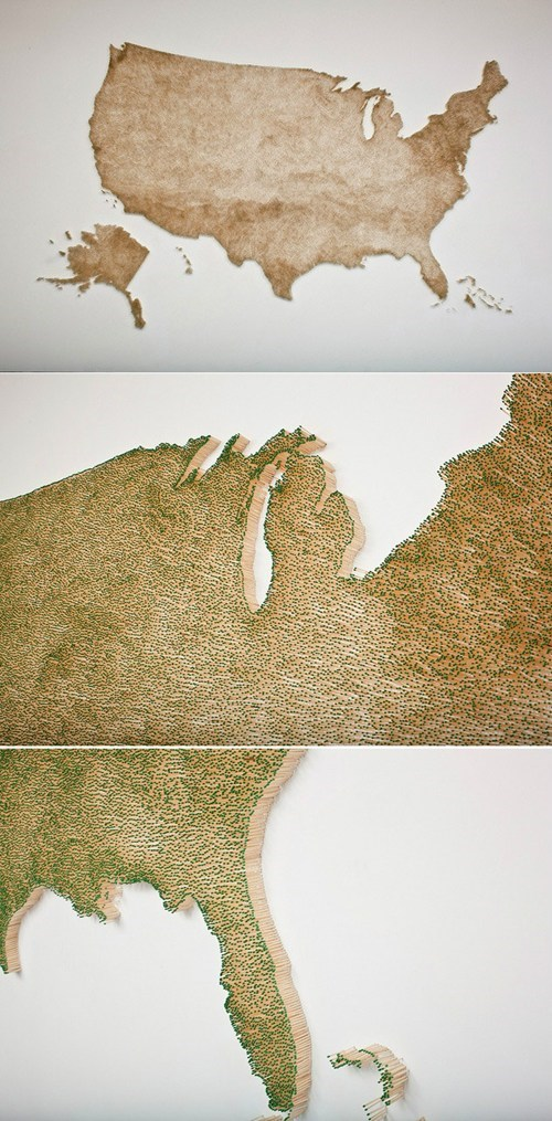 art design map match sticks - 7059362048