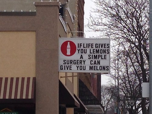 sign plastic surgery clever business - 7059383808