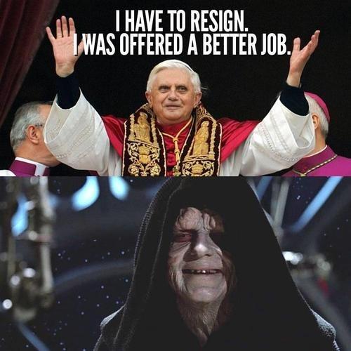 star wars,pope,Emperor Palpatine