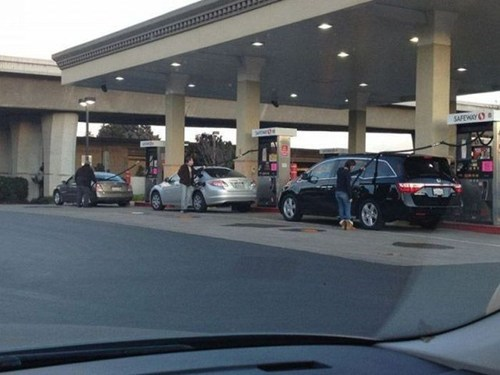 gas station facepalm cars genius - 7059430144
