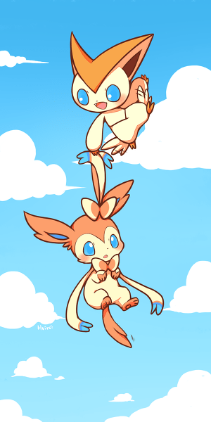art,ninfia,victini