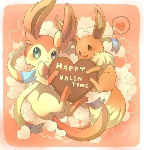 happy valentine eevee cute ninfia - 7059693312