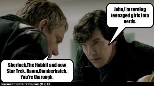john watson benedict cumberbatch nerds Martin Freeman girls Sherlock - 7059948288
