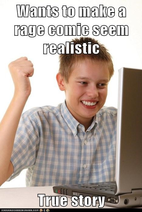 first day on the internet kid Net Noob true story Rage Comics - 7060329216