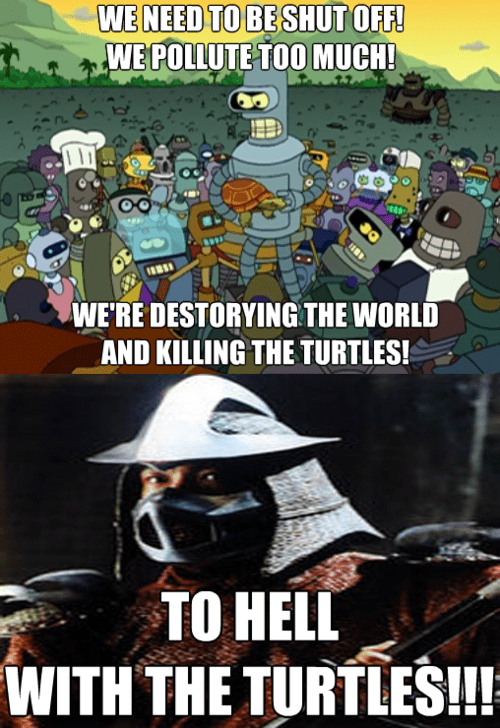 bender,TMNT,turtles,shredder