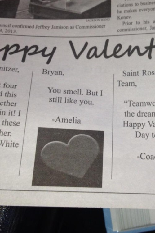 you smell,newspaper,Valentines day