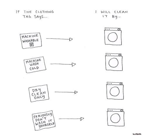 tags,washing instructions,comics