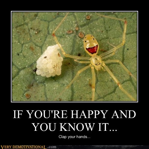 creepy spider happy smile