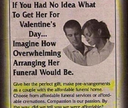 valentines gift funeral - 7061292544