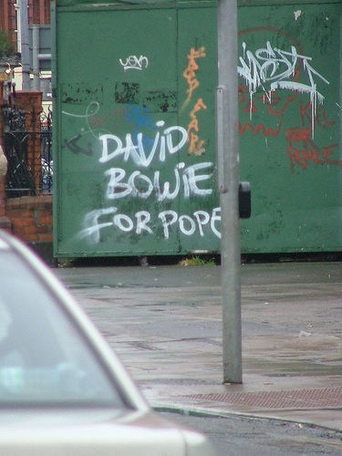 pope,graffiti,david bowie,Music FAILS,g rated