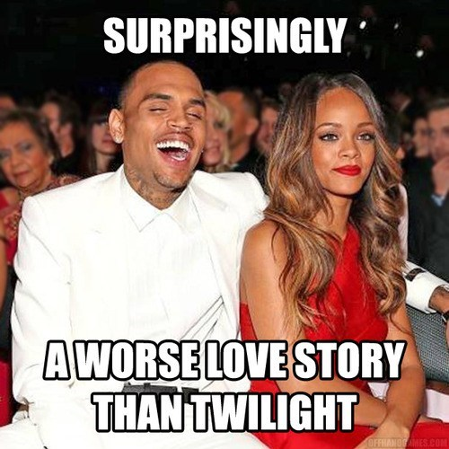 surprising love story worse chris brown rihanna twilight - 7061602816