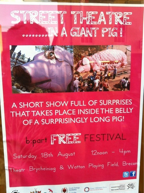 sign,pig,festival