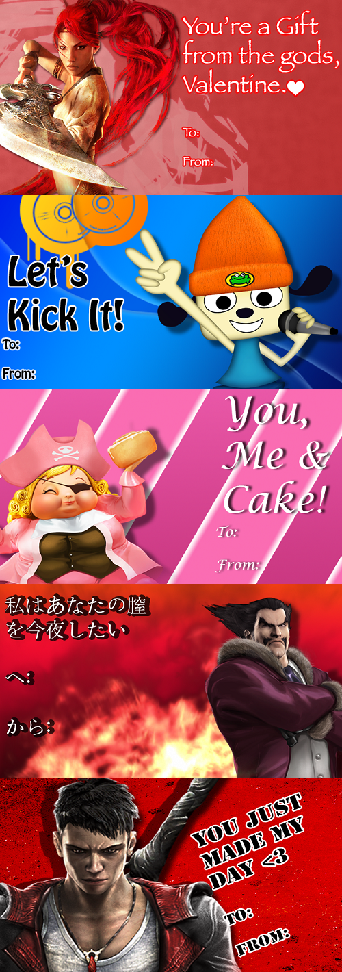 valentine card Sony playstation all-stars Valentines day