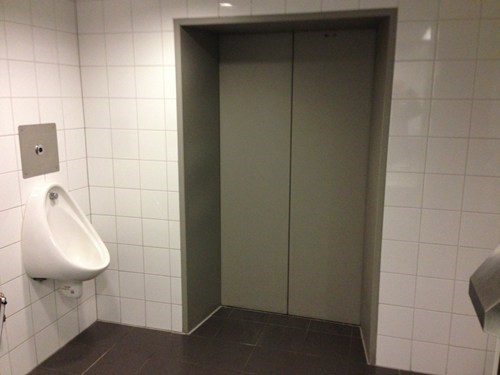 elevator Awkward bathroom genius - 7061764608