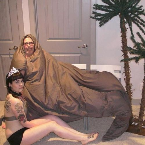 cosplay star wars jabba the hutt Princess Leia - 7061860096