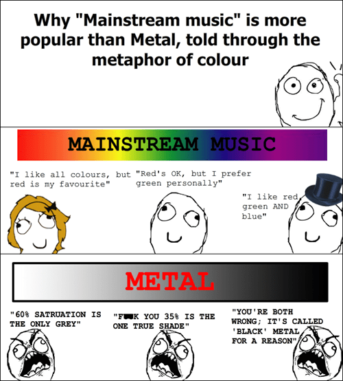 popularity heavy metal mainstream