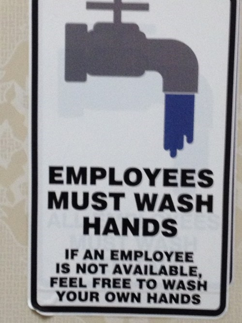 bathroom humor wash hands monday thru friday g rated
