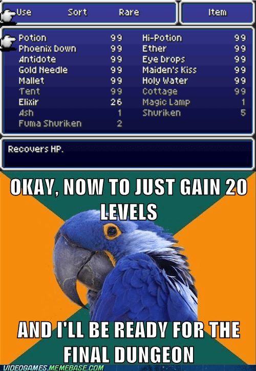 final fantasy,meme,Paranoid Parrot