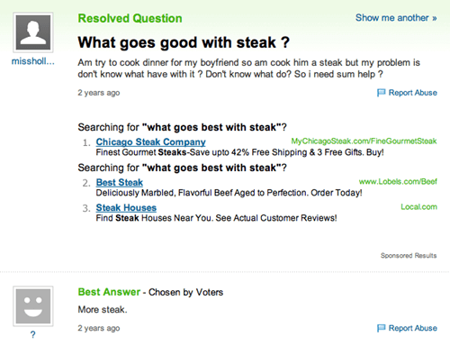 steak,cooking,yahoo answers