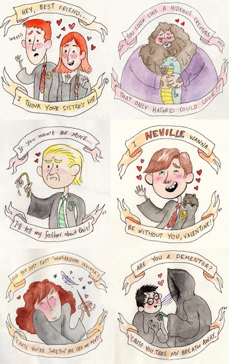 Harry Potter Fan Art Valentines day - 7062113280
