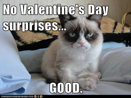 No Valentine's Day surprises...  GOOD.