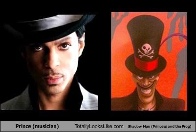 Prince (musician) Totally Looks Like Shadow Man (Princess and the Frog)