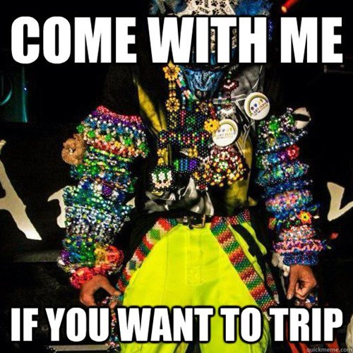 raves,kandi,drugs,tripping
